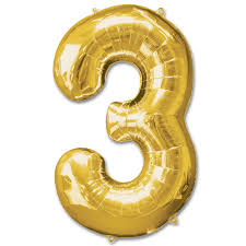 gold balloons number 3 gold foil balloon 40 inch inflated balloon shop nyc