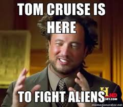 Tom Cruise Meme - tom cruise thinks he s on planet to fight aliens times of india