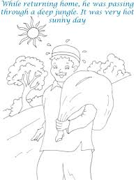cap seller story coloring page for kids 3