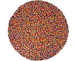 Half Circle Rugs Round Alisha Felt Ball Rug 140 Cm 420 U20ac Furniture