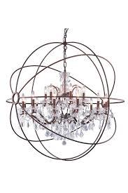 Elegant Lighting Chandelier Elegant Lighting 1130g43 Geneva 18 Light Crystal Chandelier