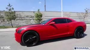black camaro with black rims chevrolet camaro on rohana rc10 matte black wheels