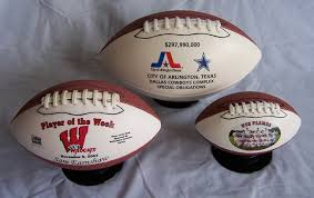 engraved football gifts football