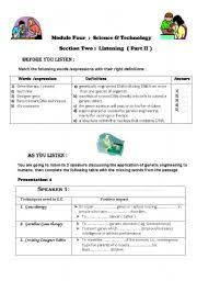 english teaching worksheets genetic engineering