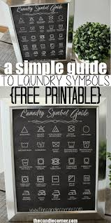 a simple guide to laundry symbols free printable laundry