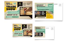 builder u0027s trade show postcard template design