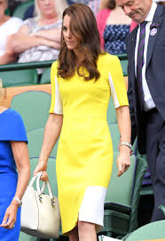 kate middleton recycles a bright yellow dress at wimbledon 2016