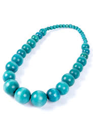 blue beaded necklace images Chunky african inspired blue beaded necklace from colu uk jpg
