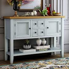 buffet sideboard cabinet storage kitchen hallway table industrial rustic console table sideboard buffet storage cabinet home furniture for entryway hallway with bottle shelf white