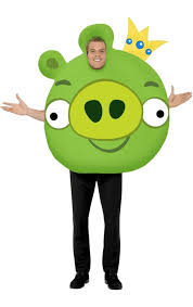 angry birds green pig costume jokers masquerade