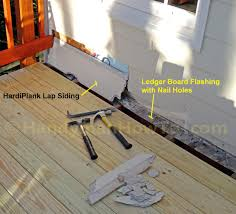 Deck To Patio Transition How To Replace Deck Ledger Flashing