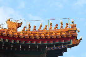 roof decorations imperial roof decorations beijing stock image image of historic