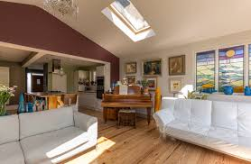 pitched roof extension vaulted ceiling velux rooflight