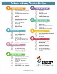Bathroom Cleaning Schedule Form Bathroom Spring Cleaning Checklist Clean Better Than The Pros