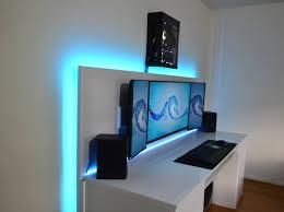 Hide Desk Cables Revamped Gaming Setup With Diy Desk Album On Imgur