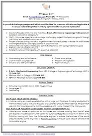 Sample Resume Of Engineering Student by Sample Resume Engineering Students Freshers Sample Cv For