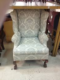Winged Armchairs For Sale Vintage Wing Back Chair Thrift Score Thrift Diving Blog