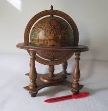 Small Desk Globe Small World Globe Vintage Rotating Wood Desk Decorative