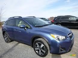 blue subaru crosstrek 2016 quartz blue pearl subaru crosstrek hybrid 109007660 photo 6