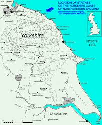 Durham England Map by Staithes Yorkshire Coast Uk Geology Field Guide