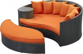 Orange Wicker Patio Furniture - taiji round wicker outdoor daybed with ottoman