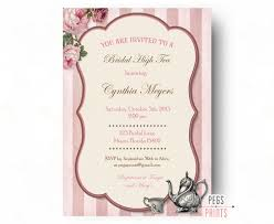 despedida invitation bridal high tea invitation printable high tea invites