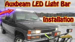 diy auxbeam 52 inch v series led light bar installation chevy