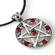 crystal pendant necklace aliexpress images Pentagram pendant necklace wicca pagan gothic pentagram pentacle jpg