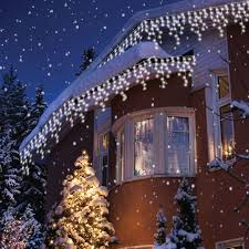 best deal on led icicle lights sentik 240 snowing icicle ultra bright led lights white amazon co