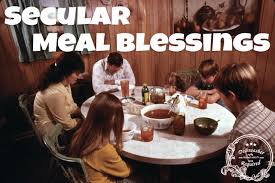 secular meal blessings dishwasher required