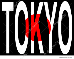 Japan Flag Black And White City Of Tokyo Stock Illustration I1231847 At Featurepics