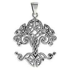sterling silver celtic knot tree of yggdrasil pendant knotwork