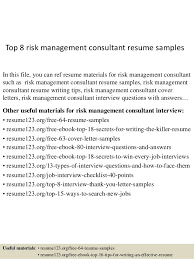 Management Consulting Resume Sample by Top 8 Risk Management Consultant Resume Samples 1 638 Jpg Cb U003d1431513147