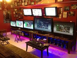 172 best game room images on pinterest gaming rooms desk setup