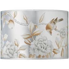 jamie young handpainted platinum large drum lamp shade