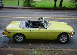 1974 mg mgb in citron yellow sports car shop
