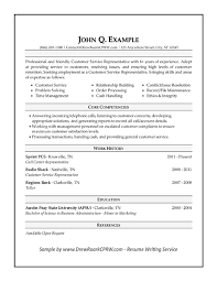 Customer Service Representative Resume Entry Level Free Customer Service Resume Samples Free Customer Service Resume