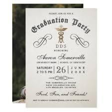 dental school graduation invitations announcements zazzle