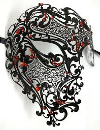 keegan ghost mask for sale free shipping silver black gold 3 color phantom laser cut venetian