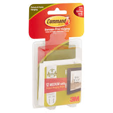 Hanging Pictures Command Picture Hanging Strips White Medium 12 Sets Of Strips