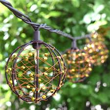 globe string lights brown wire brown wire bead sphere lights