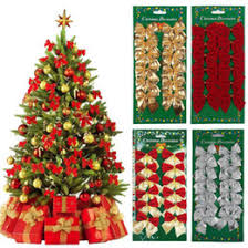 silver bow tree decorations silver bow tree decorations for