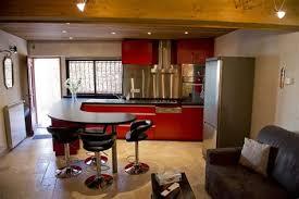 cuisine en cuisine avec coin repas 8 ilot de cuisine en granit quartz ou