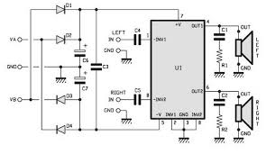 la4555 audio amplifier mono circuit electrical concepts