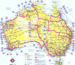 map of aus aus roads de mapsof net