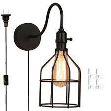 Gooseneck Wall Sconce Kiven Wall Lamp 1 Light Plug In Ul Listed Bulb Included Wall