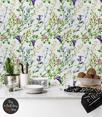 Watercolor Wallpaper For Walls by Watercolor Wild Flowers Wall Mural Floral Colorful