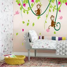 monkey wallpaper for walls carton wall sticker decor wallpaper the monkey climbing the tree