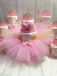 Diaper Cake Centerpieces by Pink U0026 Gold Princess Tutu Diaper Cake Centerpiece Set Diaper