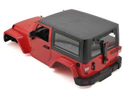 jeep body 1 10 plastic hardtop scale crawler hard body red 275mm by xtra